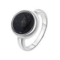 Кольцо TEOSA серебро с родием, авантюрин синт., , 1000-0167-GLS размеры - 17