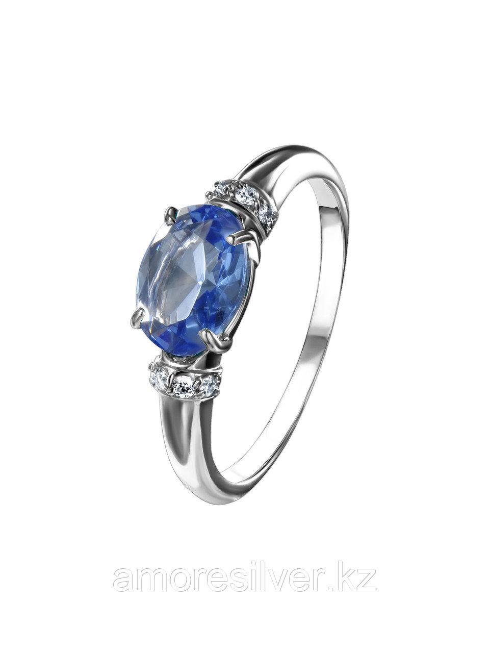 """Кольцо TEOSA серебро с родием, фианит синт., """"halo"""" 1000-0455-TAN размеры - 17,5"""