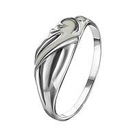 Кольцо Золотые узоры серебро с родием, эмаль, классика 90-01-5558-00 размеры - 18 18,5