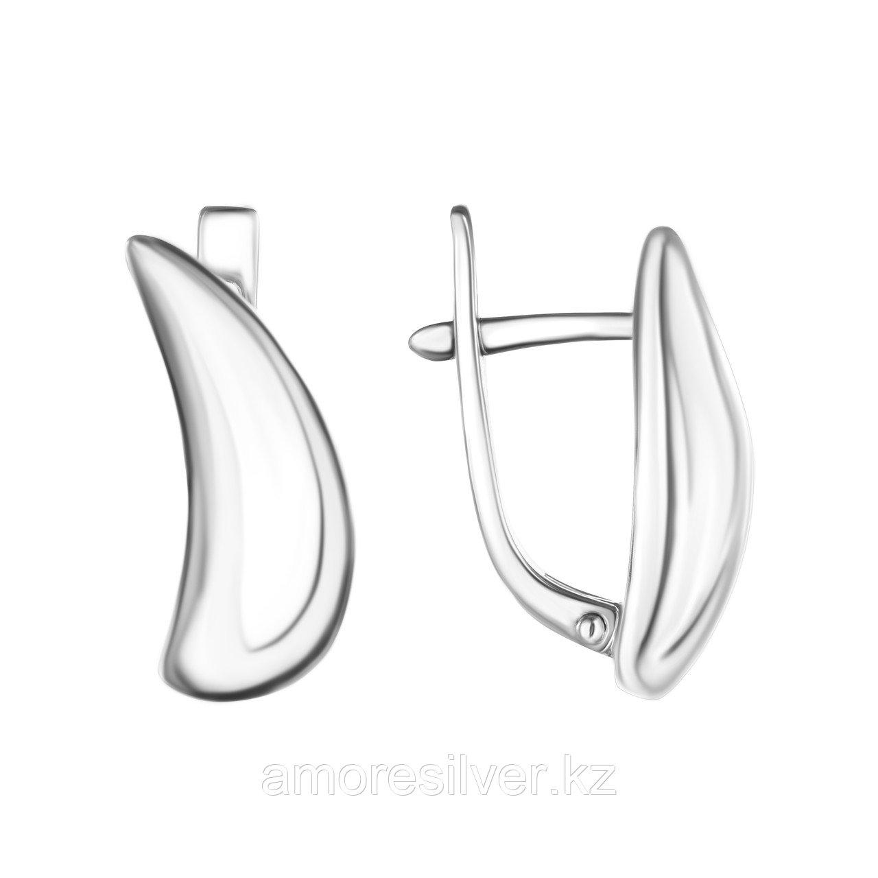 Серьги TEOSA серебро с родием, без вставок, с английским замком, геометрия 10220-0655-00