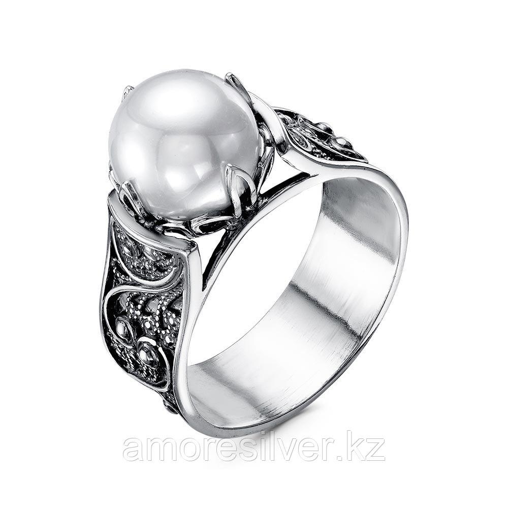"""Кольцо Красная пресня серебро с родием, стекло, с английским замком, """"каратник"""" 23612270 размеры - 19,5"""