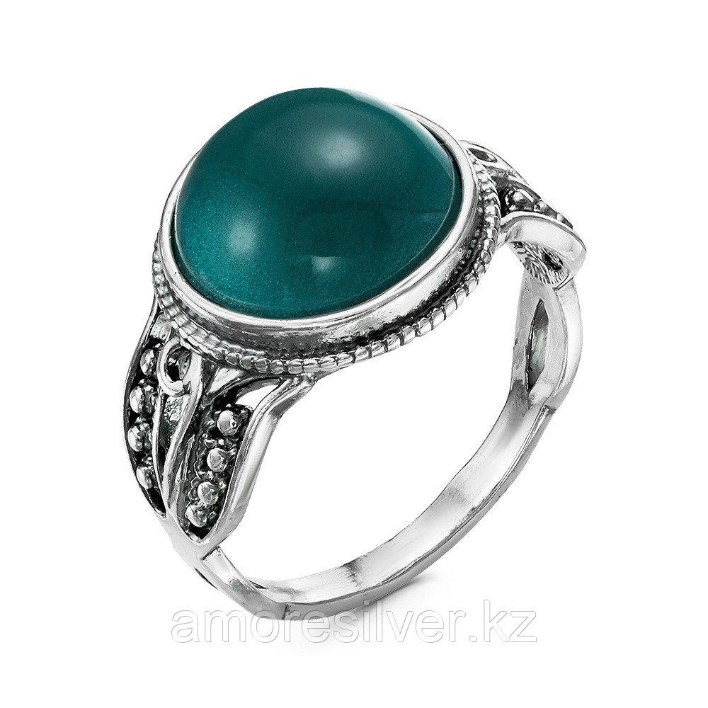 Кольцо Красная пресня серебро с родием, бриллиант, с английским замком, овал 23610910-14 размеры - 18,5