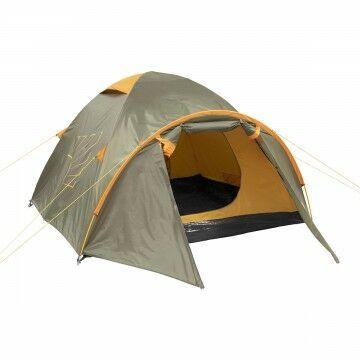 Палатка MUSSON-3 Helios зеленый-оранжевый HS-2366-3 GO - фото 1