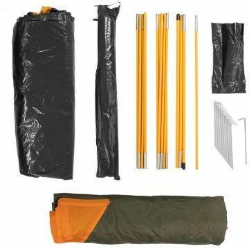Палатка MUSSON-3 Helios зеленый-оранжевый HS-2366-3 GO - фото 9