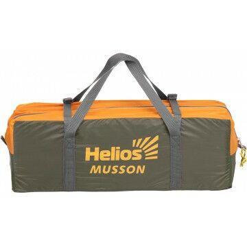 Палатка MUSSON-3 Helios зеленый-оранжевый HS-2366-3 GO - фото 10