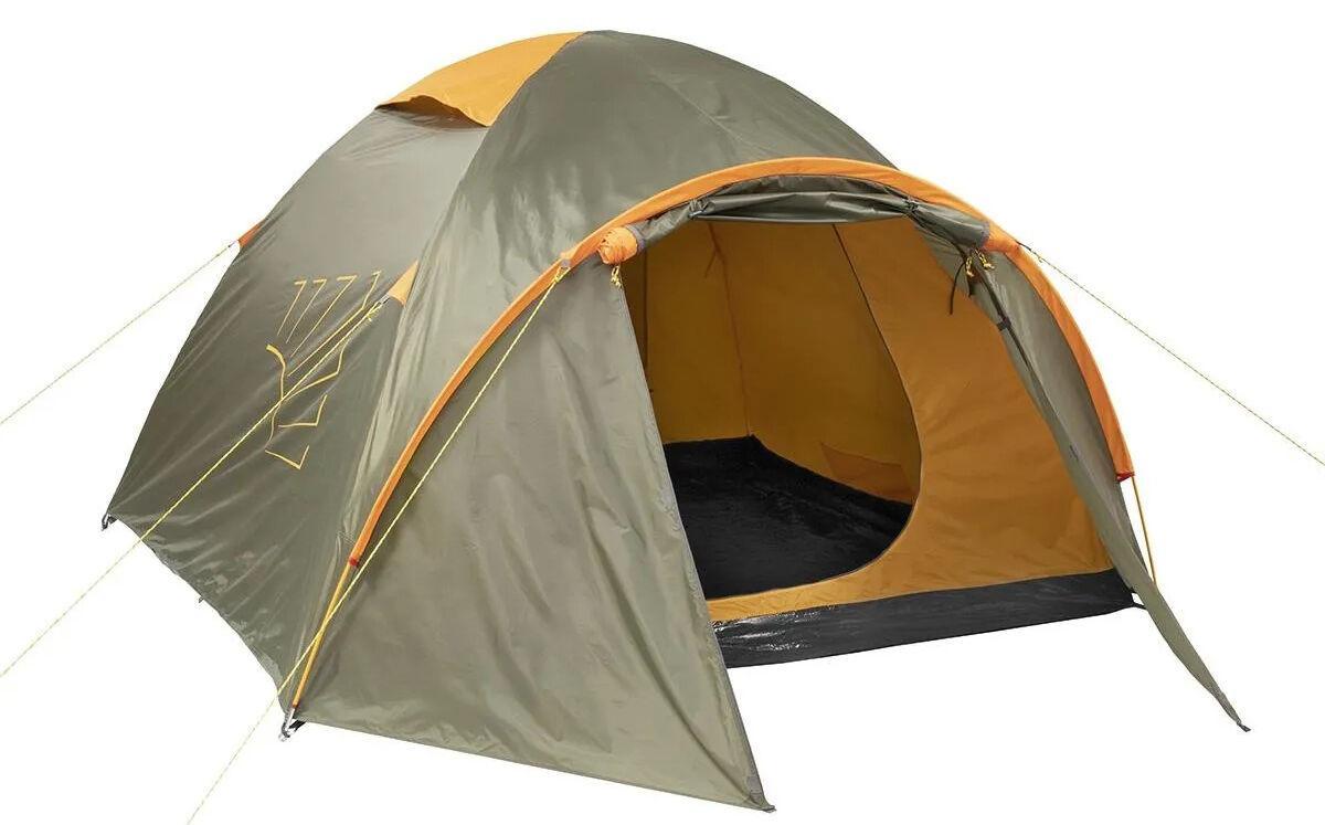 Палатка MUSSON-4 Helios зеленый-оранжевый HS-2366-4 GO - фото 1
