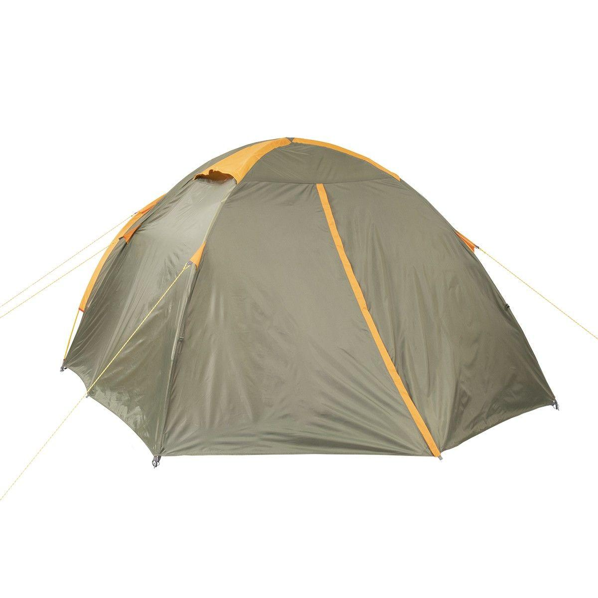 Палатка MUSSON-4 Helios зеленый-оранжевый HS-2366-4 GO - фото 2