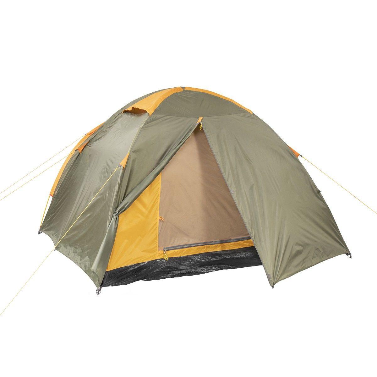 Палатка MUSSON-4 Helios зеленый-оранжевый HS-2366-4 GO - фото 3