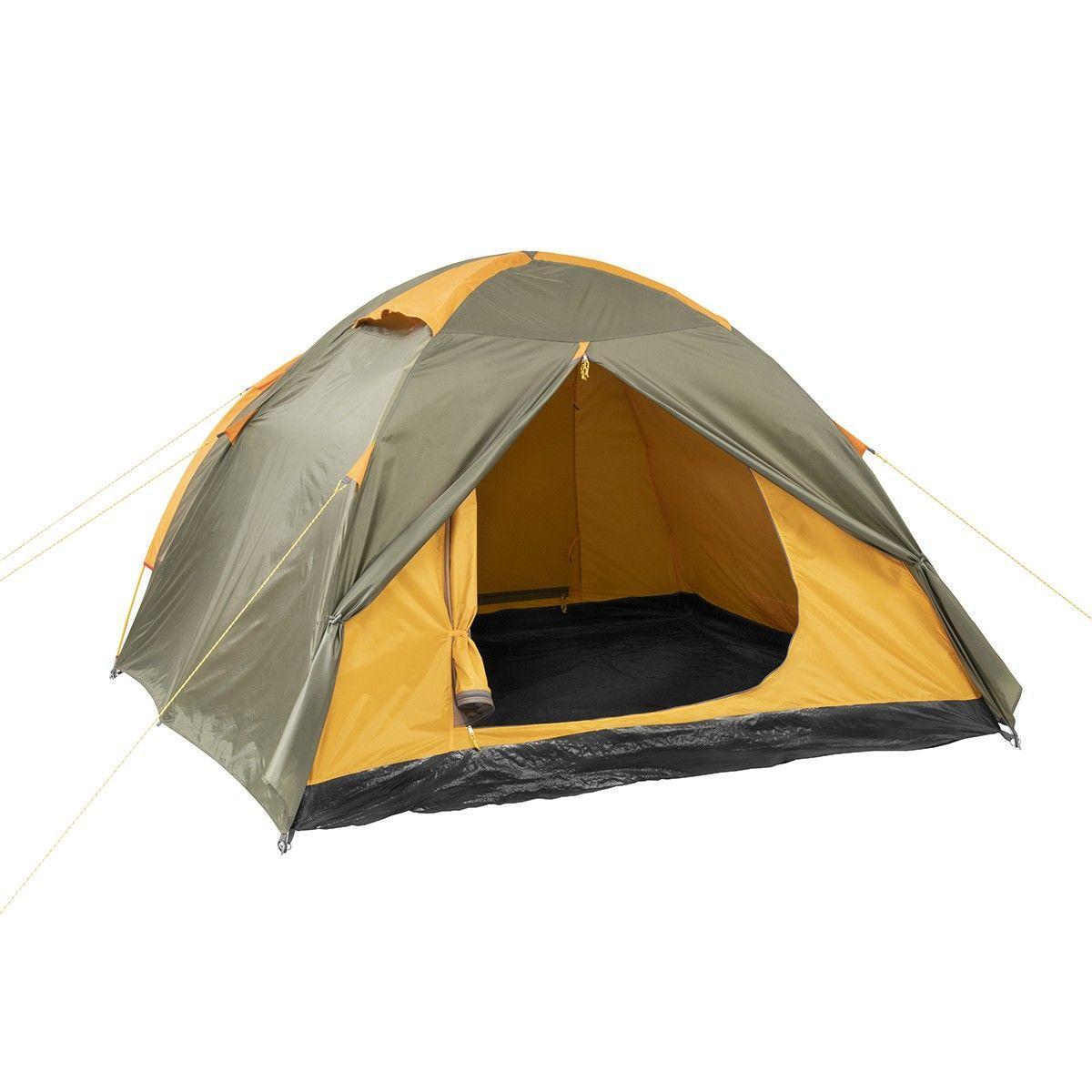 Палатка MUSSON-4 Helios зеленый-оранжевый HS-2366-4 GO - фото 4