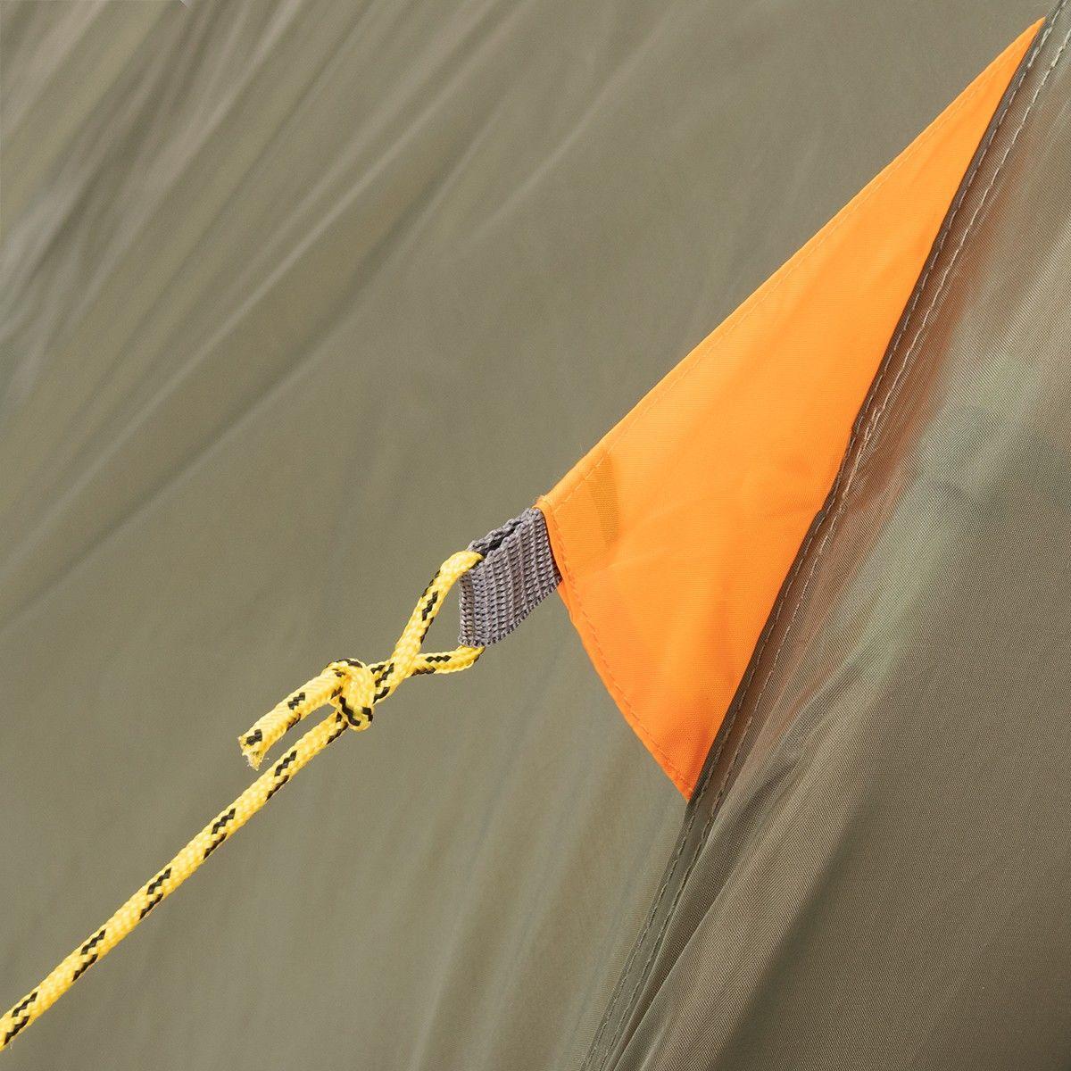 Палатка MUSSON-4 Helios зеленый-оранжевый HS-2366-4 GO - фото 10