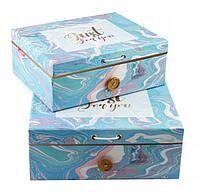 Подарочная коробка 2 в 1 с пуговкой