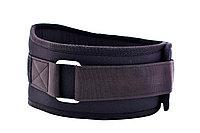Пояс атлетический на липучке Wide, черный (XL (90-110 см))