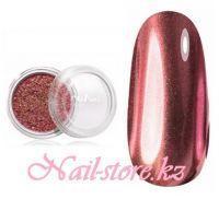 Зеркальная пыль для втирки с аппликатором Runail (цвет: темно-розовый), 1гр.