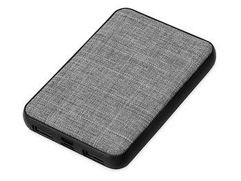 Портативное зарядное устройство из rPET Reborn, 5000 mAh, серый