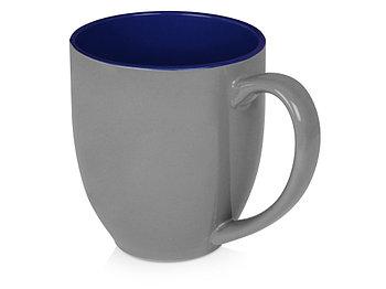 Кружка керамическая Gracy 470мл, серый/темно-синий