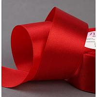 Лента атласная, 40 мм × 23 ± 1 м, цвет красный №26