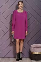 Женское осеннее розовое нарядное платье Alani Collection 1502 44р.