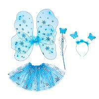 Карнавальный набор 'Снежинка', 4 предмета крылья, жезл, юбка, ободок, 3-5 лет