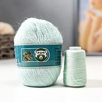 """Пряжа """"Mink wool"""" 90% пух норки,10% полиамид 350м/50гр + нитки (848 айсберг)"""