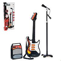 Музыкальная установка 'Рок-н-ролл 2' гитара, микрофон, усилитель