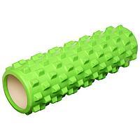 Роллер массажный для йоги 45 х 15 см, цвет зелёный