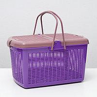 Переноска-корзина-корзина для собак и кошек, фиолетовая, 47х36х27,5 см