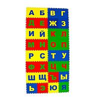 Игровой коврик Eco Cover пазл Казахско - Русский Алфавит 20x20 cм