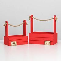 Ящик для декора набор 2в1 'Почта', 25х15х30, 21х12х23 см