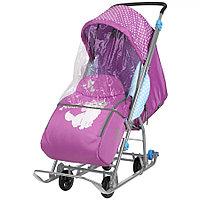 Санки коляска Ника Disney baby 1 Мари орхидея