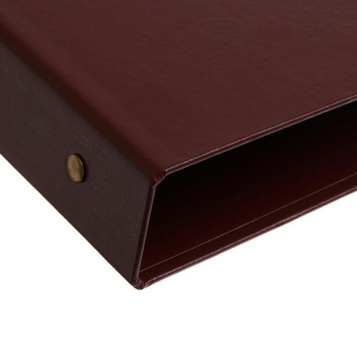 Альбом для монет 'Стандарт', 230х270 мм, без листов, коричневый - фото 3