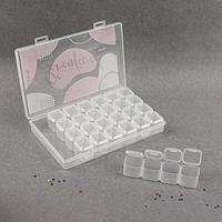 Контейнер для декора, 7 блоков, 4 ячейки, 17,5 x 10,5 x 2,7 см, цвет прозрачный