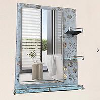 Зеркало настенное 50х70 см + 3 полки