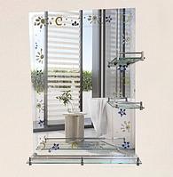 Зеркало настенное 45х60 см + 3 полки