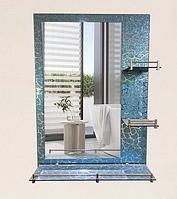 Зеркало настенное 60х80 см + 3 полки