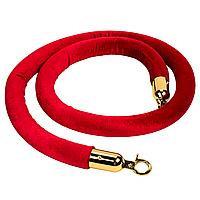 Лента 1,5 м для стойки-ограждения цвет красный