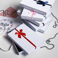 Коробочка подарочная под набор 'Бантик' минимализм, 13*18 (размер полезной части 12,5х17,5см), цвет МИКС