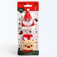Развивающий браслетик-погремушка для малыша 'Дед Мороз', набор 2шт.