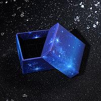 Коробочка подарочная под серьги, кольцо 'Сияние ночи', 5*5*3, цвет синий (комплект из 6 шт.)