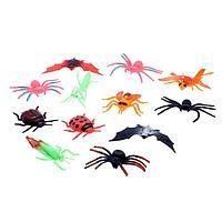 Набор насекомых 'Жучки, паучки', 12 штук