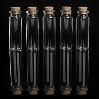 Баночки для хранения бисера, d 2,2 x 6 см, 5 шт