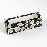 Коробка для макарун Flowers, 5.5 x 18 x 5.5 см (комплект из 5 шт.)