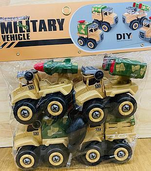 XY01-4 Военная спец техника Military 4в1 в пакете 24*18см