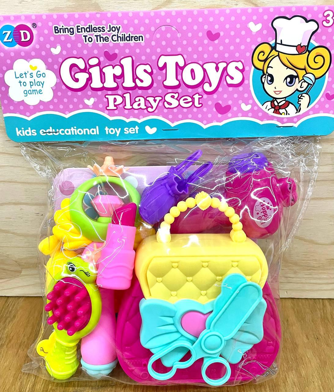 SD894-326 Girls Toys Фен набор с волшебной палочкой в пакете 27*21см