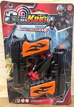 007-8 Gun king Набор 2 пистолет +6 патронов на картоне 29*19см