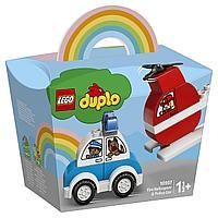 Lego 10957 Дупло Мой первый пожарный вертолет и полицейский автомобиль