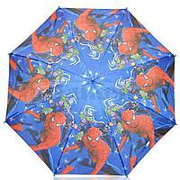 Зонт детский Человек Паук трость 66 сантиметров синий