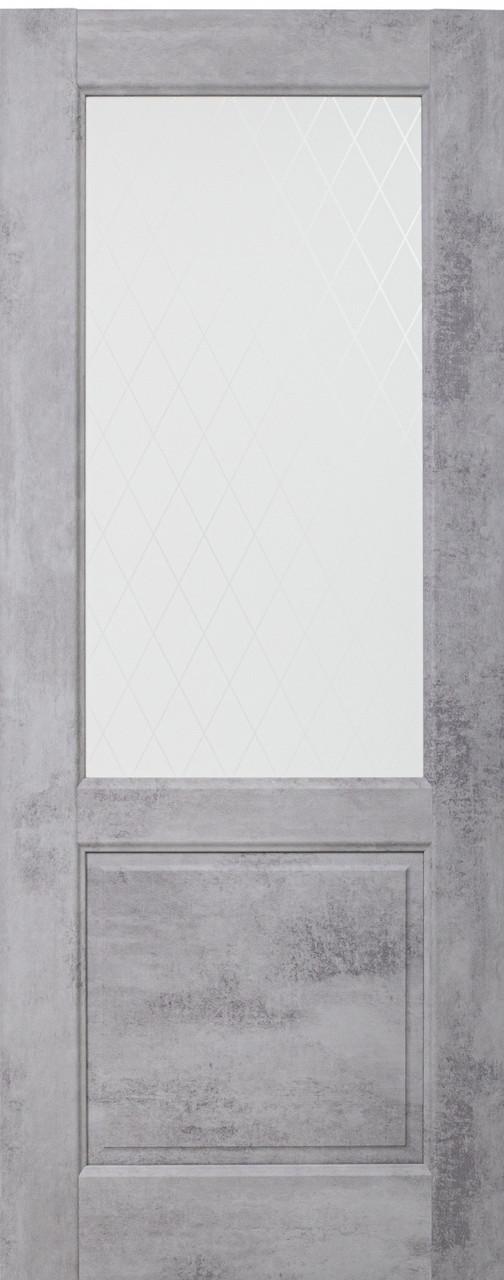 Межкомнатная дверь ДО NEAPOL 2V Муар светло-серый