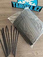 Черные трубочки с гофрой d0,5x23 см  500 шт./уп