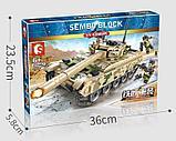 Конструктор аналог лего LEGO Sembo 105562 Основной боевой танк VT-4, фото 3