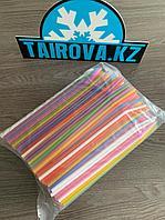 Цветные трубочки с гофрой d0,5x23 см  500 шт./уп